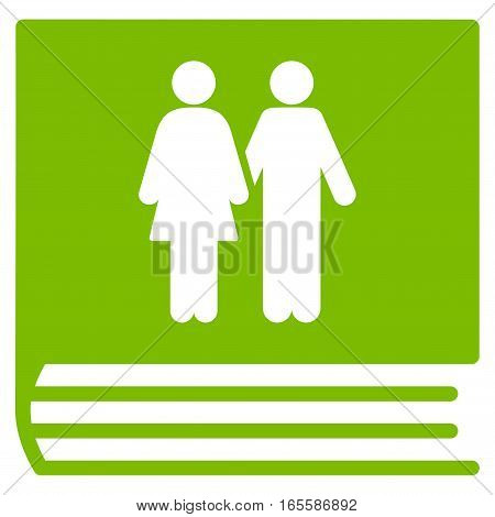 Family Album vector icon. Flat eco green symbol. Pictogram is isolated on a white background. Designed for web and software interfaces.