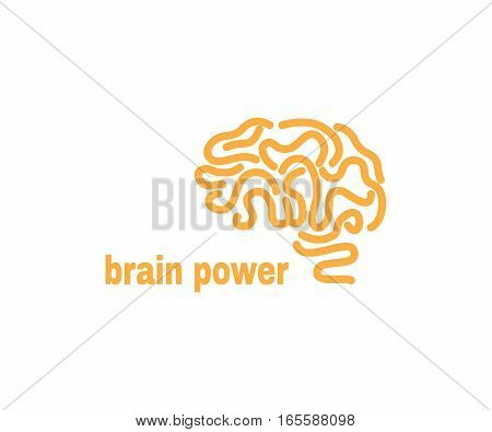 brain logo design vector template.Brainstorm power thinking brain.Icon logotype