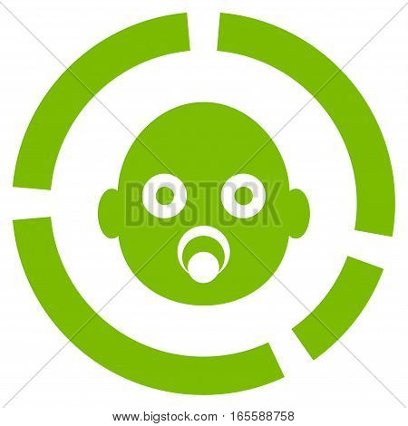Newborn Diagram vector icon. Flat eco green symbol. Pictogram is isolated on a white background. Designed for web and software interfaces.