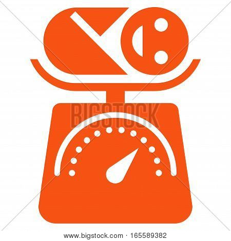 Baby Weight vector icon. Flat orange symbol. Pictogram is isolated on a white background. Designed for web and software interfaces.