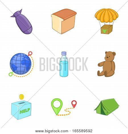 Problems of immigrants icons set. Cartoon illustration of 9 problems of immigrants vector icons for web
