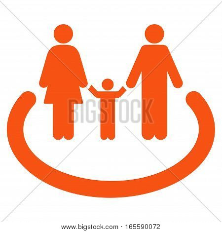 Family Area vector icon. Flat orange symbol. Pictogram is isolated on a white background. Designed for web and software interfaces.
