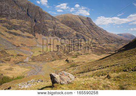 Scotland UK stunning beautiful Scottish glen in Lochaber famous tourist destination