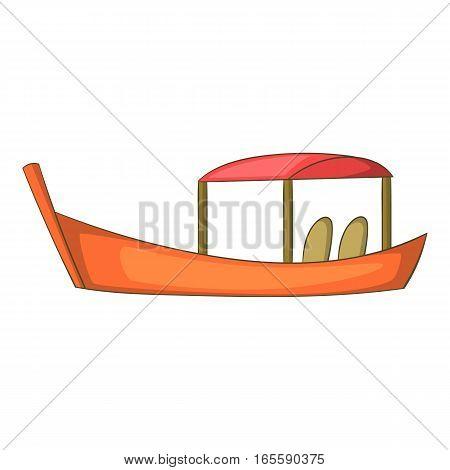 Thai boat icon. Cartoon illustration of thai boat vector icon for web design