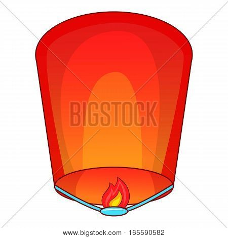Flying lantern icon. Cartoon illustration of flying lantern vector icon for web design