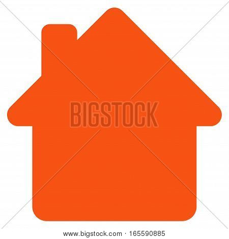 House vector icon. Flat orange symbol. Pictogram is isolated on a white background. Designed for web and software interfaces.