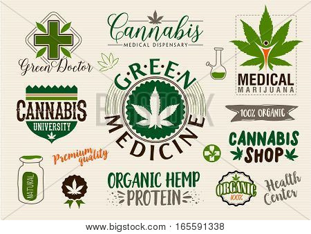 Medical Marijuana Product Label Vector  Photo  Bigstock