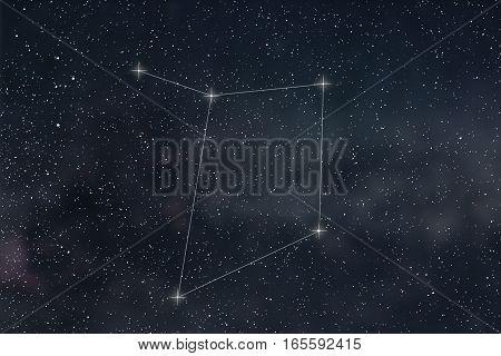 Libra Constellation. Zodiac Sign Libra Constellation Lines