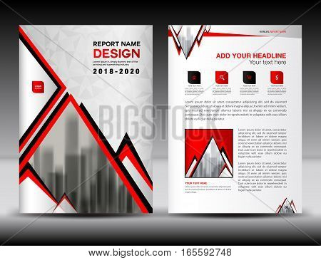 Business brochure flyer template in A4 size, Red and white Cover design, Annual report, magazine ads, catalog, advertisement vector