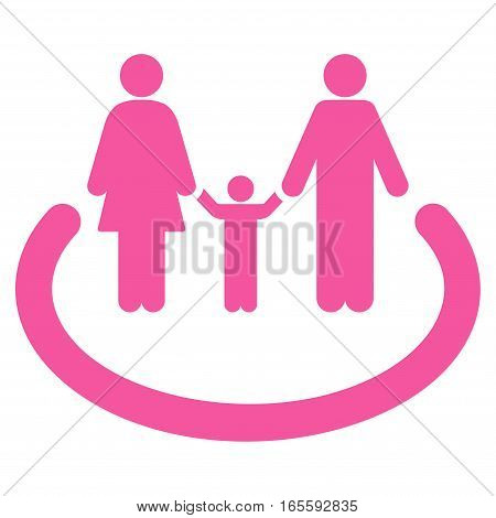 Family Area vector icon. Flat pink symbol. Pictogram is isolated on a white background. Designed for web and software interfaces.