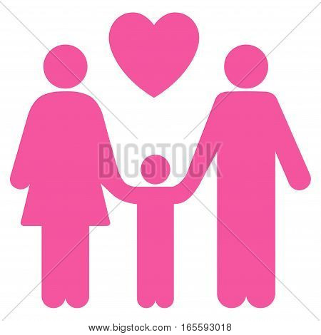 Family Love vector icon. Flat pink symbol. Pictogram is isolated on a white background. Designed for web and software interfaces.