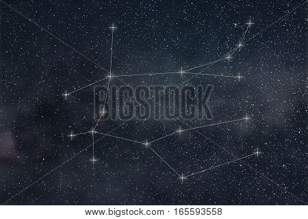 Gemini Constellation. Zodiac Sign Gemini constellation lines
