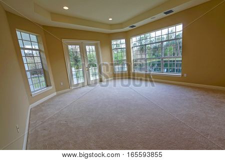 An interior shot of an empty room in a home
