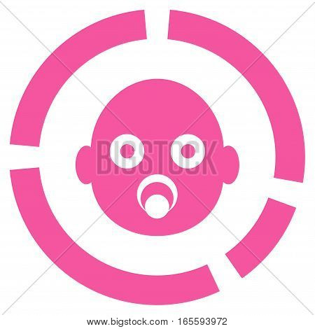 Newborn Diagram vector icon. Flat pink symbol. Pictogram is isolated on a white background. Designed for web and software interfaces.