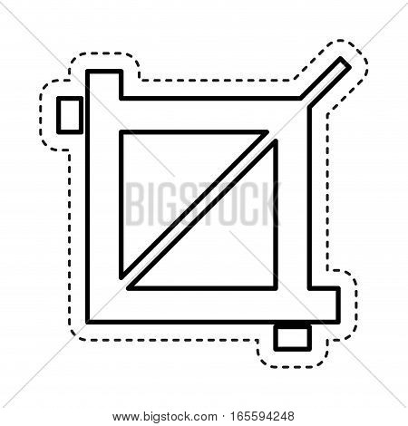 zoom image photographic icon vector illustration design