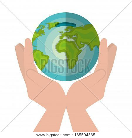 global economy world savings vector illustration design