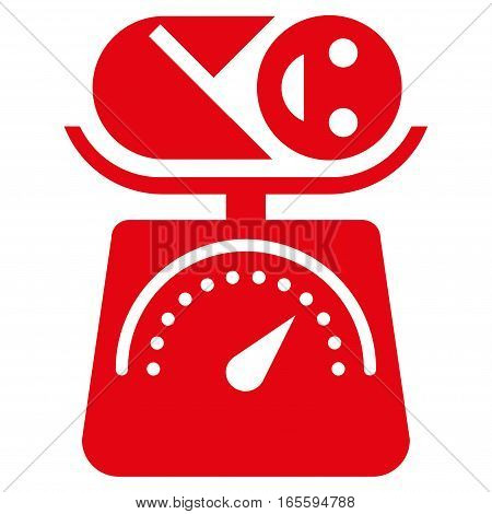Baby Weight vector icon. Flat red symbol. Pictogram is isolated on a white background. Designed for web and software interfaces.