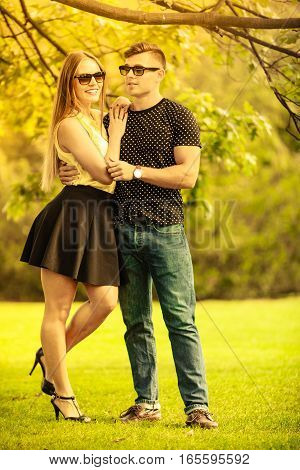 Young Beautiful Couple Spending Time Outdoors