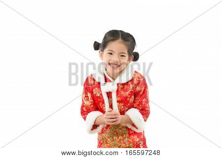 Asian Girls With Congratulatory Gesture