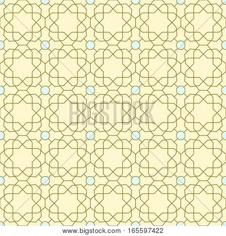 Seamless ornament in arabian style. Pattern for wallpapers and backgrounds