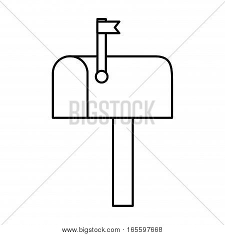 mailbox postal isolated icon vector illustration design