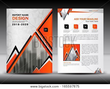 Business brochure flyer template in A4 size, Orange Cover design, Annual report, magazine ads, catalog, advertisement vector