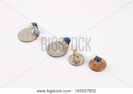 The Figurine Peasants On Coins