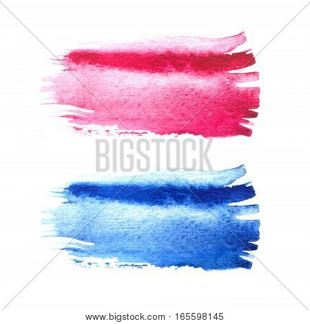 Pink And Blue Watercolor Brush Strokes With Space For Your Own Text