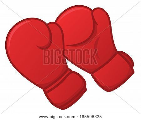 Pair of Boxing Gloves Vector Illustration Isolated on White