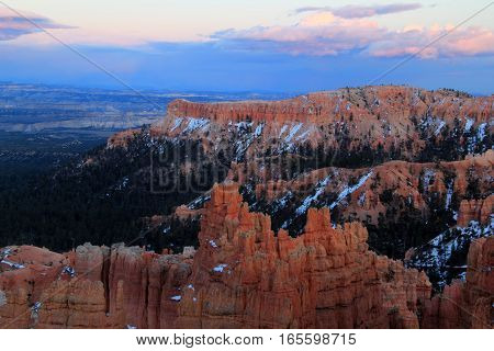 Evening Sets in at Bryce Canyon National Park in the State of Utah