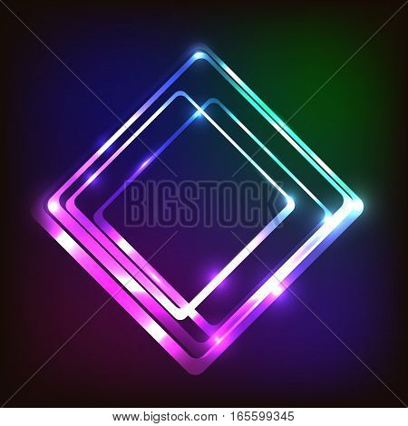 Abstract colorful background with rounded rectangle, stock vector