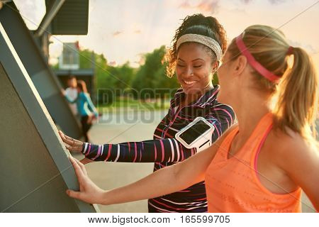 Sporty women preparing to work out and persue fitness goals