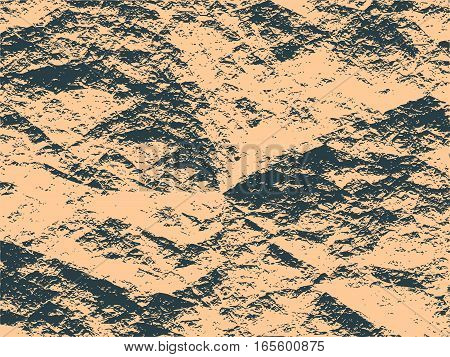 Black charcoal relief surface texture. Old concrete wall. Monochrome image. Grunge distress texture.Vector template.