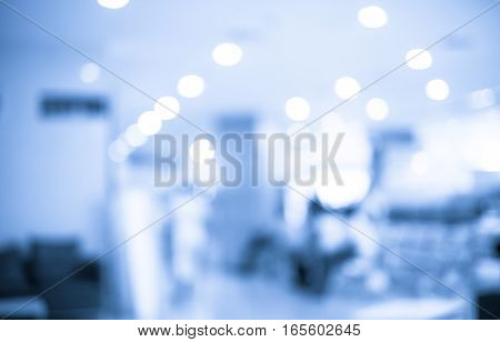 Vintage Filter : Blurred Patient Waiting For See Doctor,abstract Background