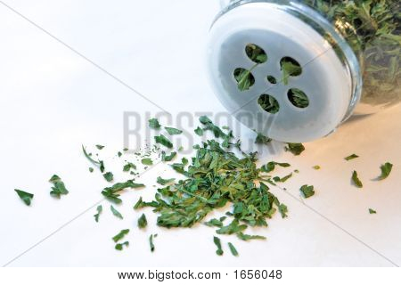 Parsley And Bottle