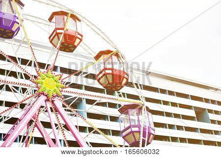 Ferris wheel. Carousel. Circus. Conceptual. Recreation and entertainment.