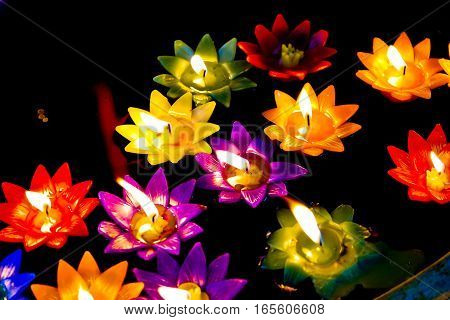 this image is about flower candle , thailand