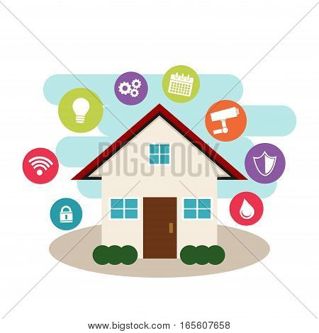 Smart home concept. Internet of things control.