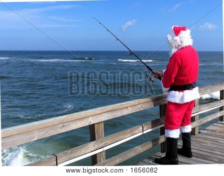 SAINT NICK FISHING FROM LOCAL PIER IN