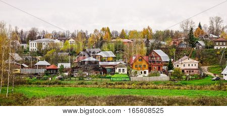 Traditional Houses In Suzdal, Russia