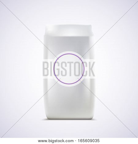 Blank Package on white background vector illustration