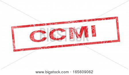 CCMI acronym in a red rectangular stamp