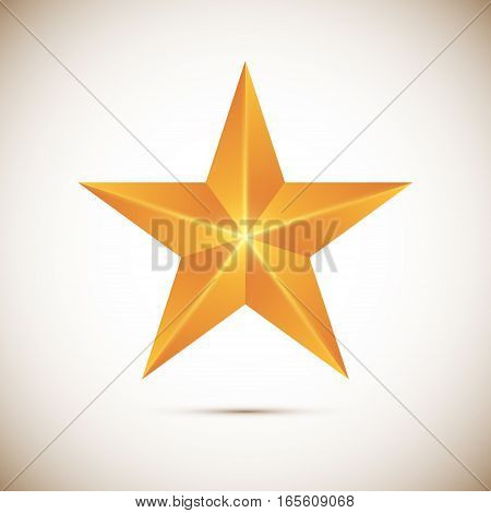 Gold star Vector illustration isolated on white background
