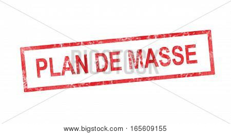 Ground Plane In French Translation In Red Rectangular Stamp