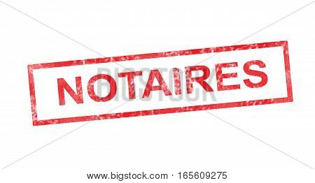 Notary In French Translation In Red Rectangular Stamp