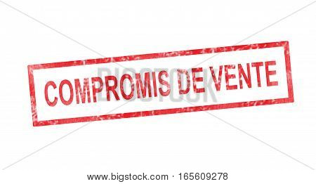 Sales Agreement In French Translation In Red Rectangular Stamp