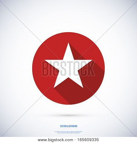 Star icon , Vector illustration flat design with long shadow