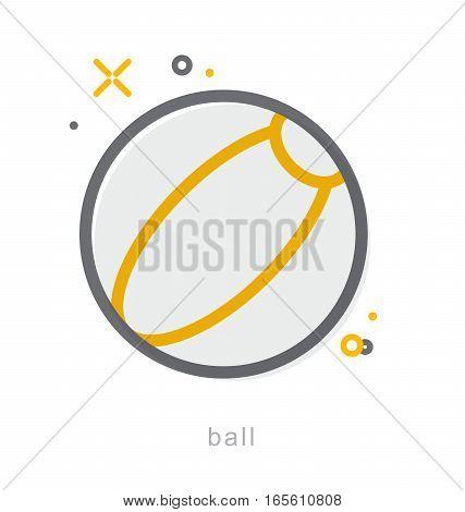 Thin line icons, Linear symbols, Ball icon