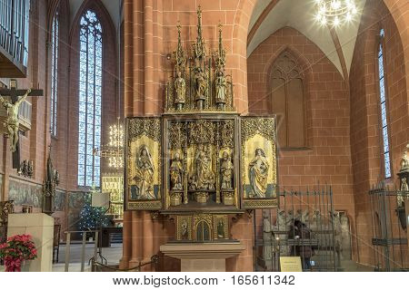 Altar Inside The Famous Dome In Frankfurt