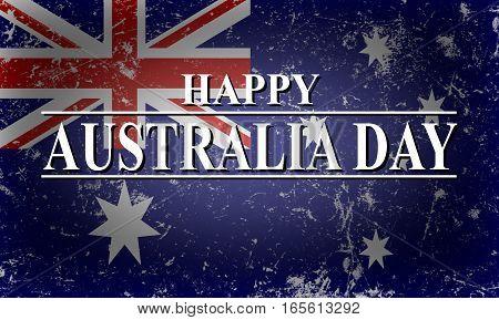 Happy Australia Day background with Australian flag
